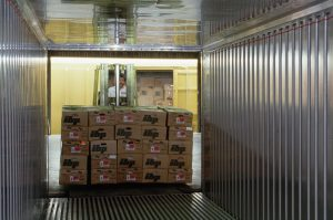 boxes being loaded into a container using freight management software