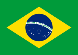 Brazil flag showing our freight software is used there