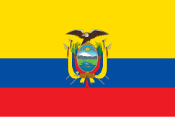 Ecuador flag showing our freight forwarding software is used there