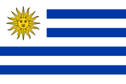 Uruguay flag showing our logistics software is used there