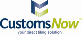 Customs now logo showing our logistics software integrates with their solutions