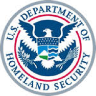 Homeland security logo showing our TMS software works for customs exams