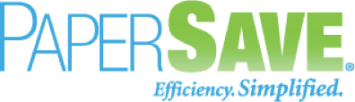 Logo of Papersave showing our freight forwarding software integrates with their solutions