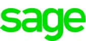 A logo of Sage showing that our freight forwarding software works great with Sage
