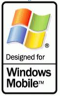 A logo that says windows mobile that shows that our logistics software works on mobile devices