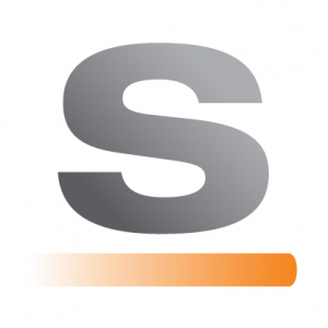 silver bullet logistics software logo with an orange line underneath